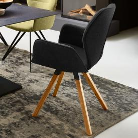 Niehoff MERLOT chair with armrests and swivelling base