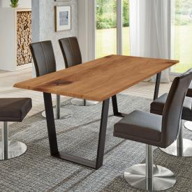 Niehoff OAK-EDITION TRAPEZ dining table with trapezoidal runners