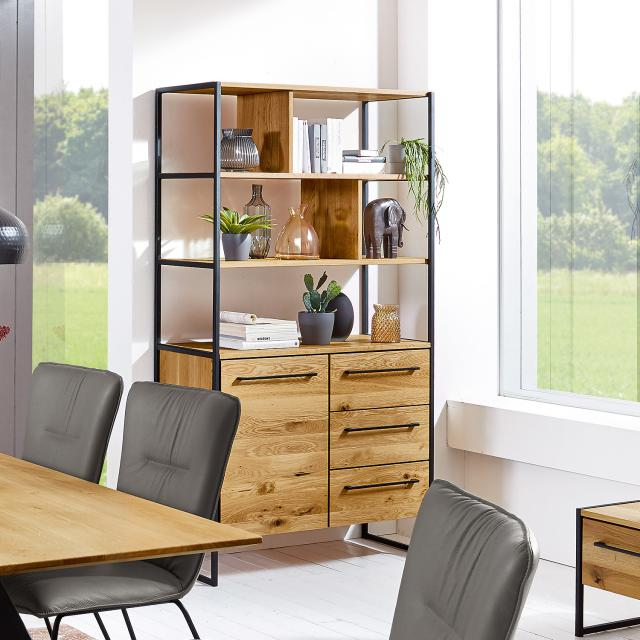 Niehoff ATELIER rack with 5 shelves with 1 door and 3 drawers