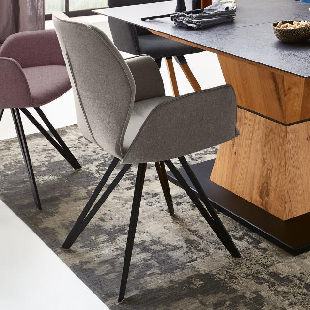 Niehoff MERLOT chair with armrests, rotating