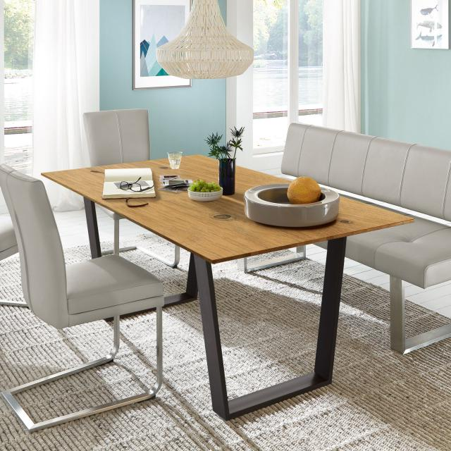 Niehoff OAK-EDITION CUBIC dining table with trapezoidal runners