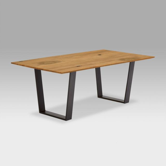 Niehoff OAK-EDITION FACETTE dining table with trapezoidal runners