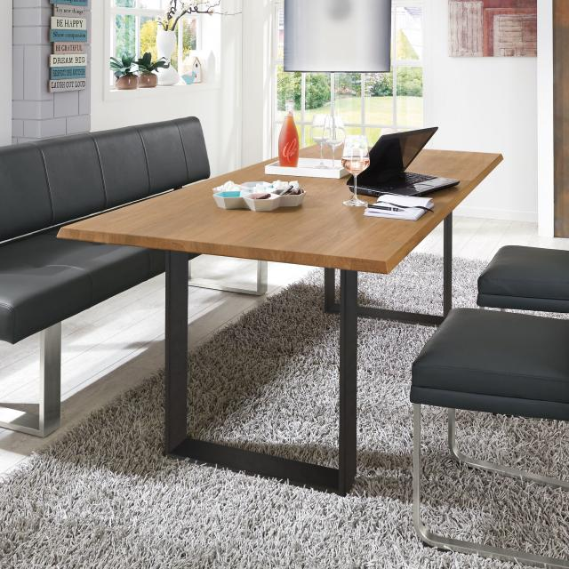 Niehoff OAK-EDITION TRAPEZ dining table with runners