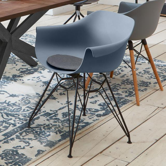 Niehoff TULIP chair with armrests and Eiffel Tower frame