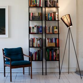 Northern Oslo Wood floor lamp with dimmer