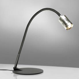 Xtralite Warwick DEL Lampe de bureau tactile sensible Variateur Prise USB Noir Lampe de table