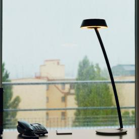Oligo Plus GLANCE LED table lamp curved with dimmer