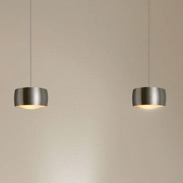 OLIGO GRACE LED pendant light with adjustable height and dimmer, 2 heads