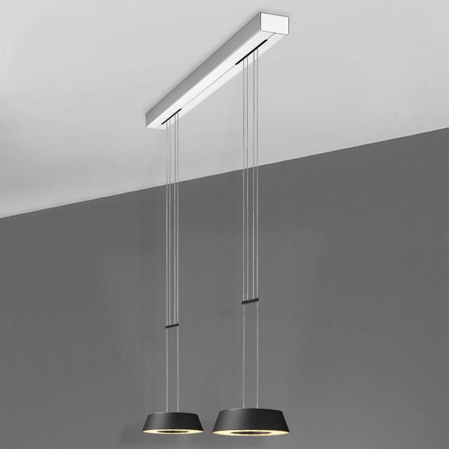 OLIGO Plus GLANCE LED pendant light 2 heads with dimmer