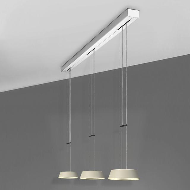 OLIGO Plus GLANCE LED pendant light 3 heads with dimmer
