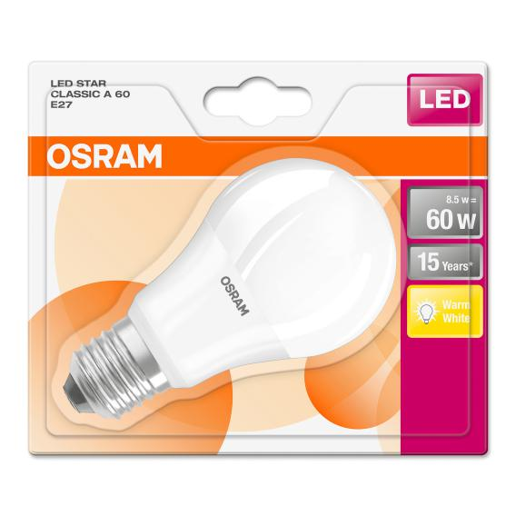 Osram Star Lamp Classic A60 8,5W E27, white LED lamps