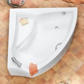 Ottofond Aura corner bath white, with leg frame