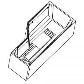 Ottofond bath support Cello for compact bath, left corner, model B