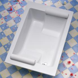 Ottofond Maharaja rectangular bath white for 2 people with support