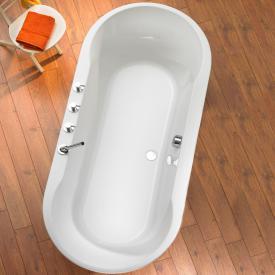Ottofond Montego Baignoire ovale blanc, avec pieds