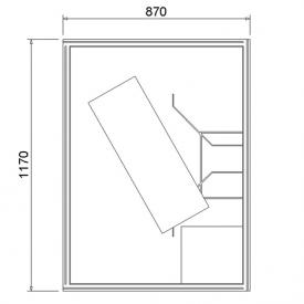 Ottofond shower tray support Aruba L: 120 W: 90 cm