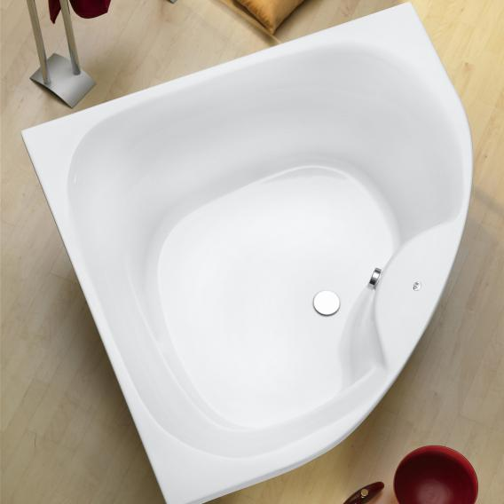 Ottofond Lima corner bath with panelling side length 150 cm, 310 litres, with panel