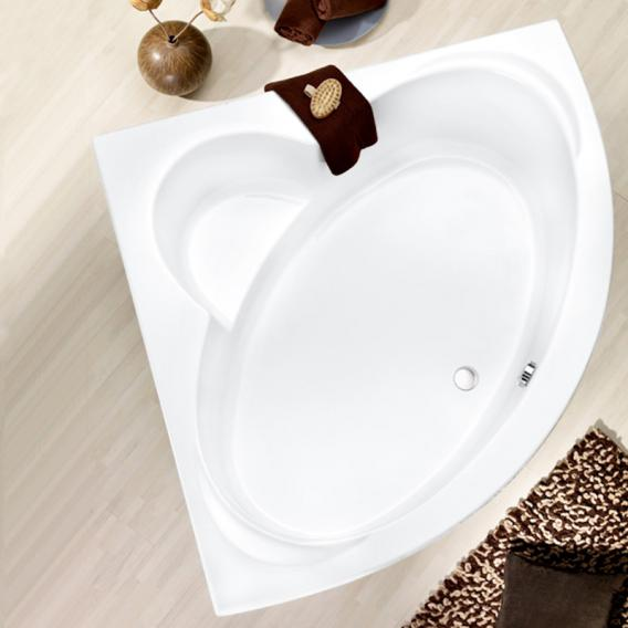 Ottofond Sardinia corner bath with panelling with leg frame and panel