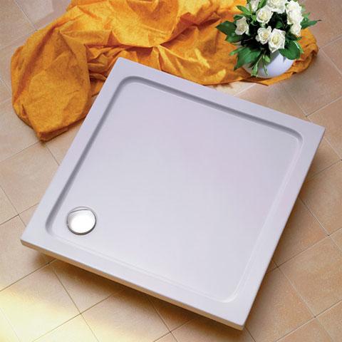 Ottofond Aruba rectangular shower tray with support