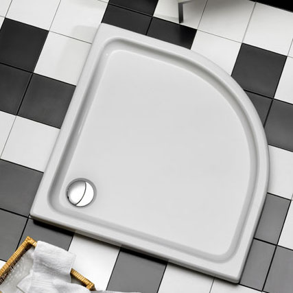 Ottofond Kraton quadrant shower tray without support