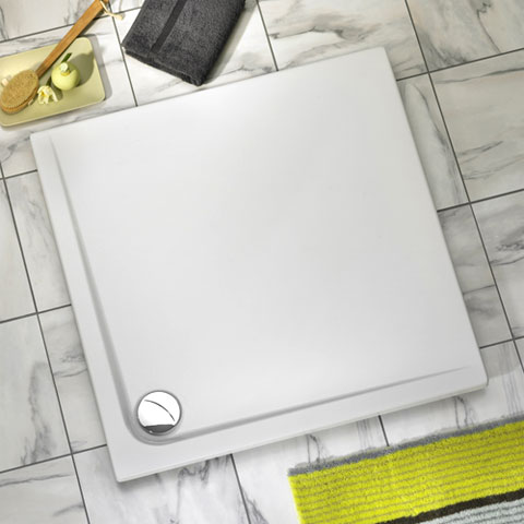 Ottofond Maui square shower tray with support