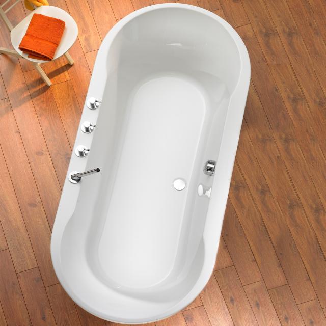 Ottofond Montego oval bath white, with leg frame
