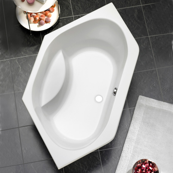 Ottofond Riga hexagonal bath with leg frame