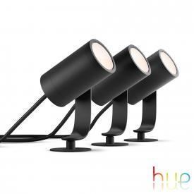 Philips Hue Lily LED spotlight/floor light, set of 3