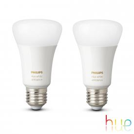 Philips Hue White Ambiance double pack, E27, 9.5 Watt