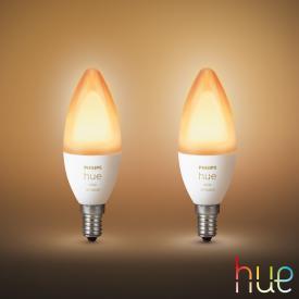 Philips Hue White Ambiance LED E14, 5.2 Watt, double pack