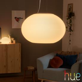 Philips Hue White and color ambiance Flourish LED pendant light with dimmer