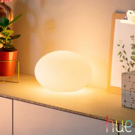 Philips Hue White and color ambiance Flourish LED table lamp with dimmer
