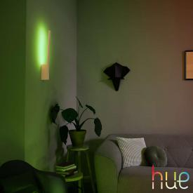 Philips Hue White and color ambiance Liane LED wall light with dimmer