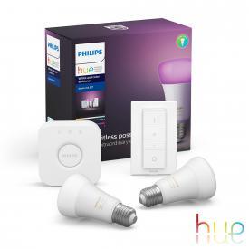 Philips Hue White and Color starter set of 2 with bridge, E27, 9.5 Watt