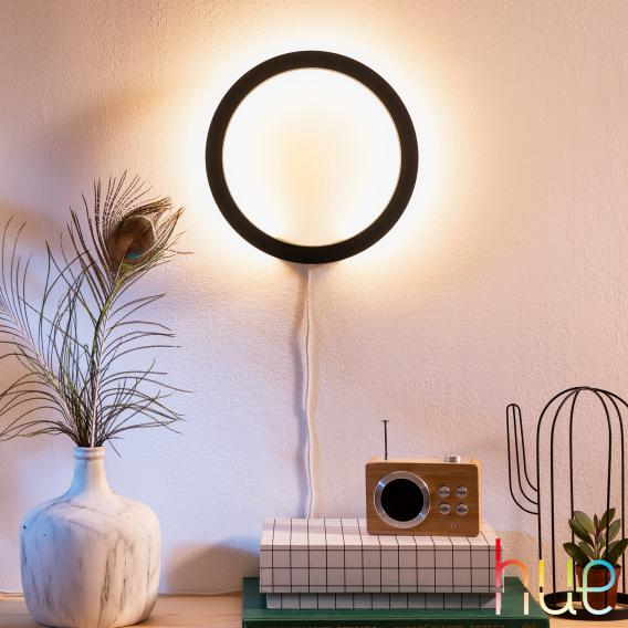 Philips Hue White and Color Ambiance Sana Wandleuchte Bluetooth schwarz