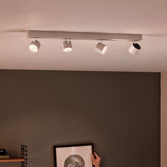 Philips myLiving Star LED Warmglow ceiling spotlight, 4 heads