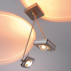 Paul Neuhaus Q-Fisheye RGBW LED ceiling light with dimmer, 2 heads