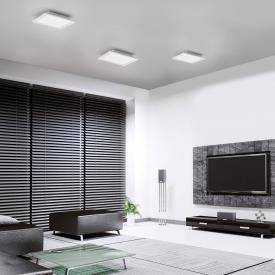 Paul Neuhaus Q-Flag RGBW LED ceiling light with dimmer, square