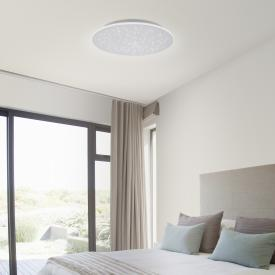 Paul Neuhaus Q-Nightsky LED ceiling light with dimmer and CCT W: round