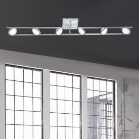 Paul Neuhaus Q-Orbit LED ceiling light with dimmer and CCT, 6 heads