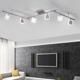 Paul Neuhaus Q-Vidal RGBW LED ceiling light with dimmer, 6 heads, adjustable