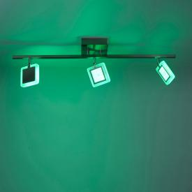 Paul Neuhaus Q-Vidal RGBW LED ceiling light with dimmer, 3 heads