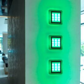 Paul Neuhaus Q-Vidal LED RGBW set of 3 recessed lights with dimmer