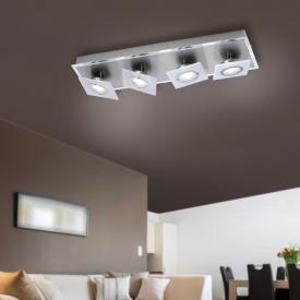 Paul Neuhaus Rotator LED ceiling light/spot 4 heads, long bar