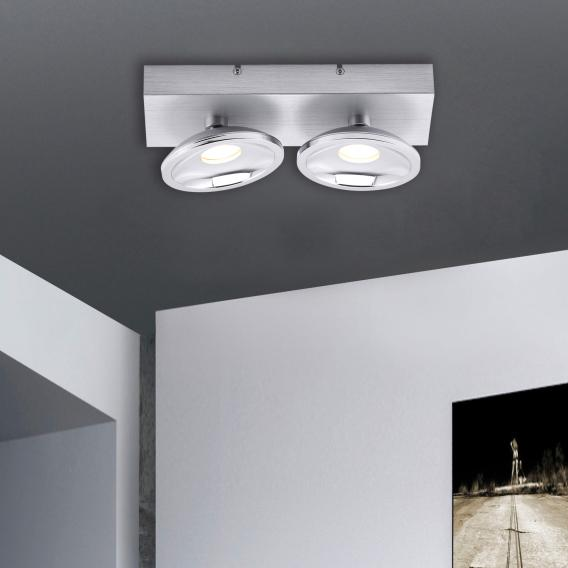 Paul Neuhaus Julian RGBW LED ceiling/spot light with dimmer, 2 heads