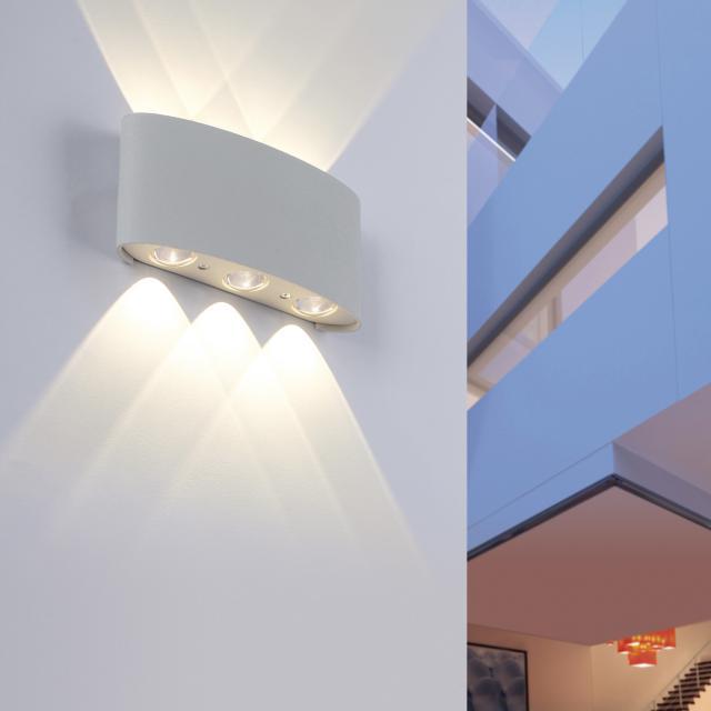 Paul Neuhaus Carlo LED wall light, 6 heads