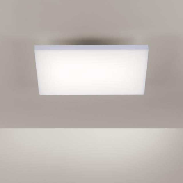 Paul Neuhaus Frameless LED ceiling light with dimmer and CCT, square
