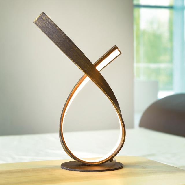 Paul Neuhaus Linda LED table lamp with dimmer