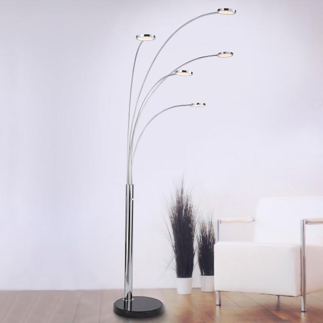 Paul Neuhaus Nola LED floor lamp with dimmer