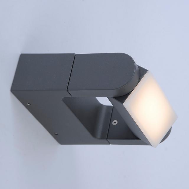Paul Neuhaus Q-Albert RGBW LED wall light with dimmer